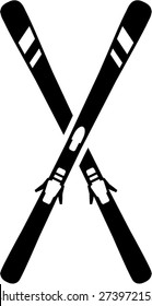 Skis Crossed