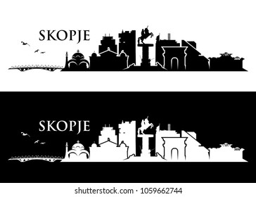 Skopje skyline - Republic of Macedonia - vector illustration