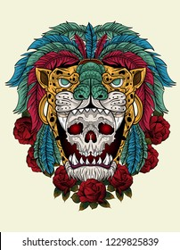 skul warrior aztec jaguar