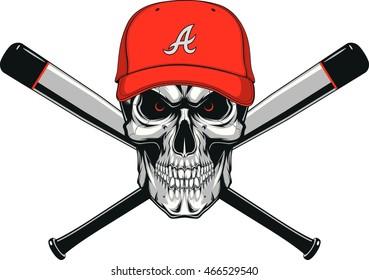 Skull baseball evil