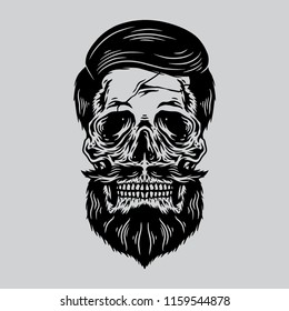 Skull Beard Vector File