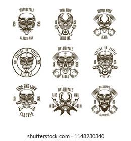 Skull Biker Set