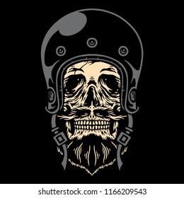 Skull Bikers Vector Art