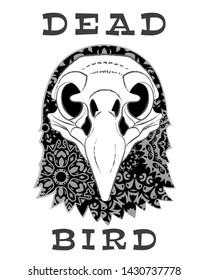 The skull of a bird. Vector illustration