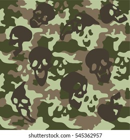 Skull camouflage texture woodland