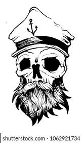 skull captain vector file