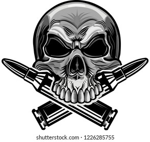skull and cartridges