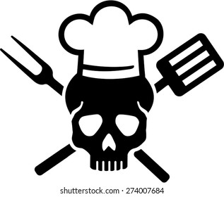 Skull with Chefs Hat
