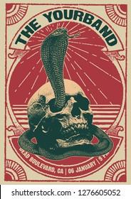 Skull Cobra Gig Poster Flyer Template