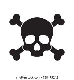 Skull cross bone Halloween icon illustration vector logo