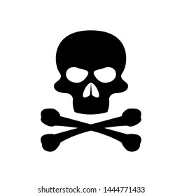 Skull and Cross Bones Icon - Vector, Poison or Toxic in Simple Sign & Trendy Symbol for Design and Websites, Presentation or Mobile Application.