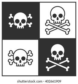Skull and crossbones icon