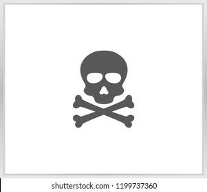 A skull and crossbones icon illustration
