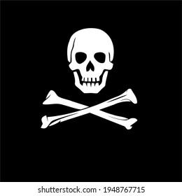 Skull With Crossbones Symbol Design