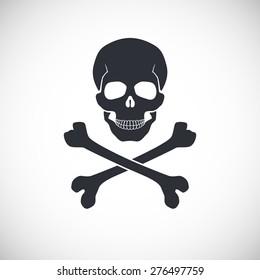 Skull and crossbones symbol, vector illustration for your design and presentation.