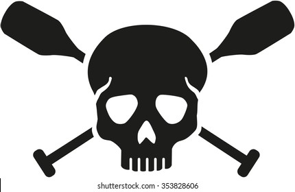 Skull with crossed paddles
