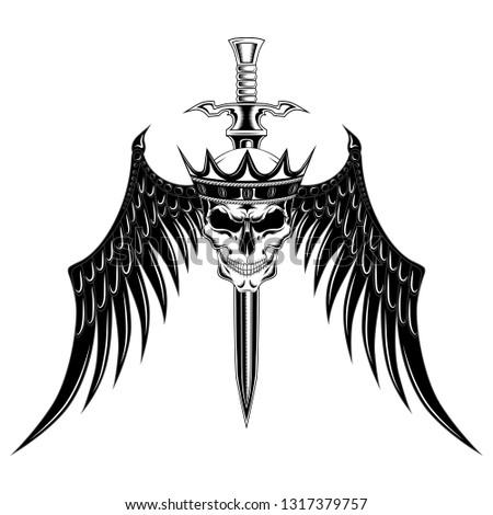 skull-crown-black-wings-sword-450w-13173