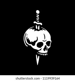SKULL WITH DAGGER 2 LOGO