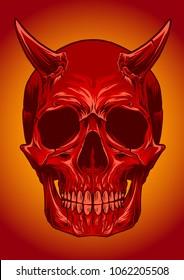 Skull Devil Vector Object