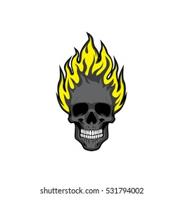 Skull Flames Vector Illustration Vol 6