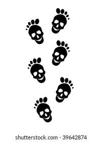skull footprints
