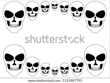 Skull Frame On White Background Stock Vector (Royalty Free ...