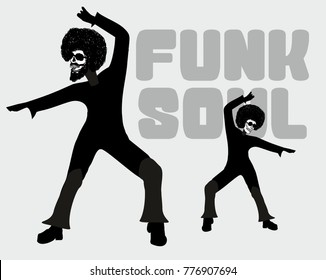 Skull Funk Soul disco dancer printing and embroidery graphic design vector artwork