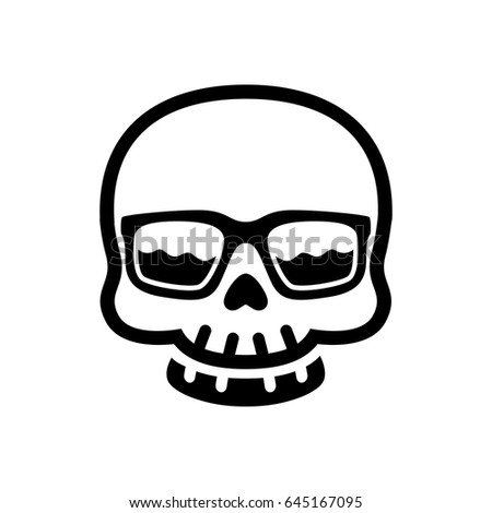 d43418f597d5 Royalty-free stock vector images ID  645167095. skull funky with eyeglasses  - Vector