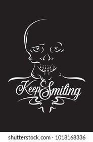 Skull funny illustration