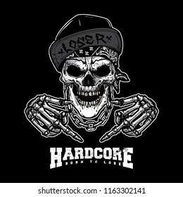 skull gangsta illustration