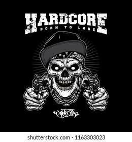 skull gangsta logo design