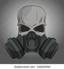 Skull In Gas Mask