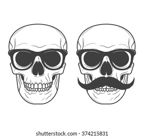 1ced274c99c3 Skull with glasses and a mustache