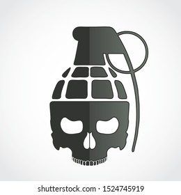 skull grenade modern military symbol design