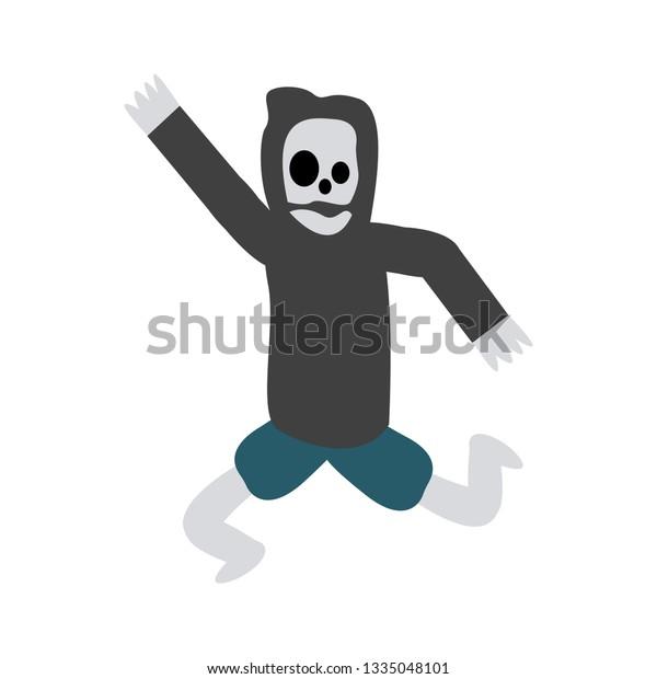 Skull Grim Reaper Sickle Stock Vector (Royalty Free) 1335048101