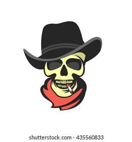 Skull in hat gangster