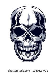 skull head drawn style icon