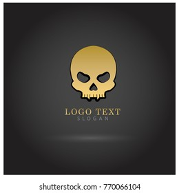 Skull Head Logo Vector Icon Template