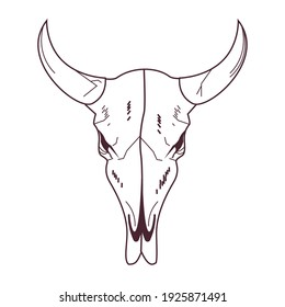 skull head of wild bull icon vector illustration design