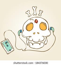 skull head-ipod
