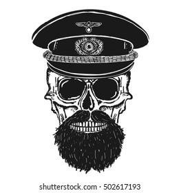 Skull hipster illustration, typography, t-shirt graphics, vectors,