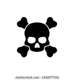 Skull icon trendy design template