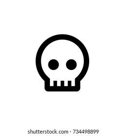 Skull icon in trendy flat style isolated on white background. Skull icon symbol for your web site design,Skull logo, app, UI. Vector illustration, Skull icon eps10.
