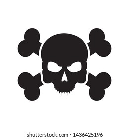 skull icon vector design template