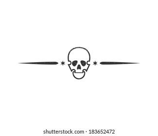 Skull isolated on white