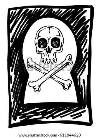 skull keyhole concept threat life do stock vector royalty free Green Skeleton Key Hole skull in the keyhole the concept of the threat to life do not spy