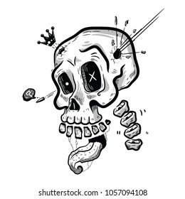 Skull King vector illustration
