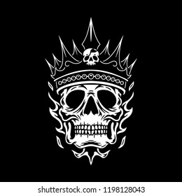 Skull Kings Vector Art