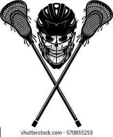 Skull Lacrosse Symbol