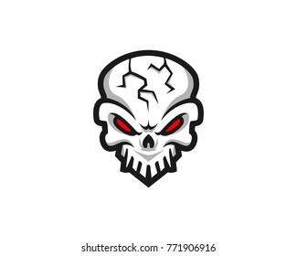 Skull logo, icon or skull illustration, vector of skeleton.